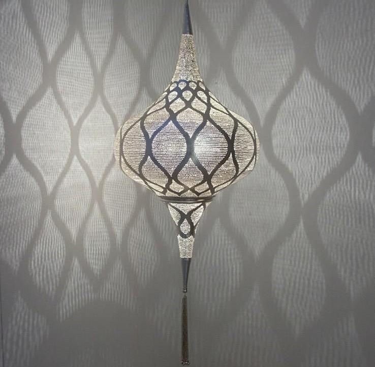"SILVER MOORISH PENDANT - 18"" (EGYPT) 