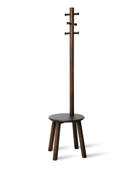 PILLAR STOOL/COATRACK