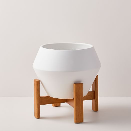 WHITE TAPERED PLANTERS