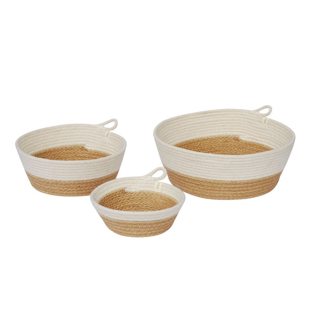 JUTE BLOCK COTTON BOWLS (SOUTH AFRICA)
