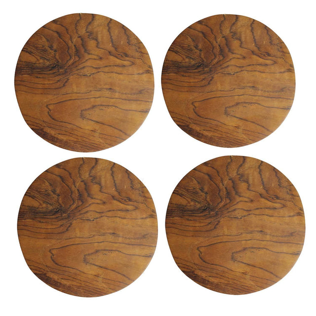 TEAK COASTERS <br>(SET OF 4)