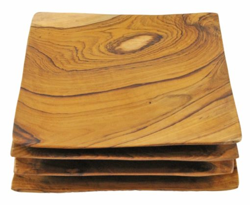 TEAK TAPAS PLATE SET | DINING & ENTERTAINING