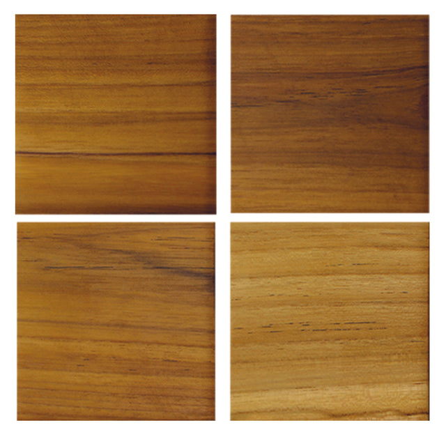 TEAK SQUARE COASTERS <br>(SET OF 4)