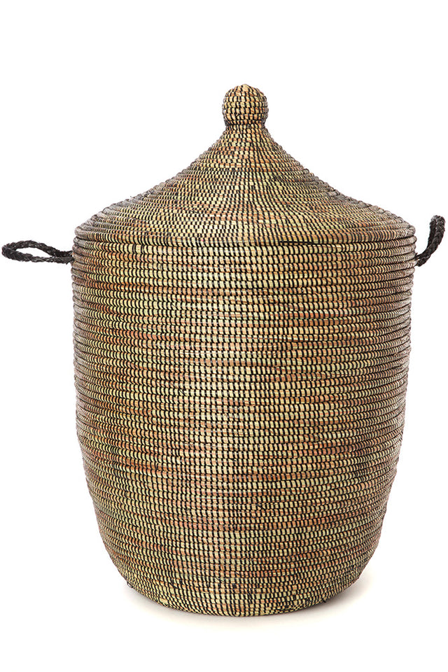 DARK BROWN CATHEDRAL BASKETS  (SENEGAL)