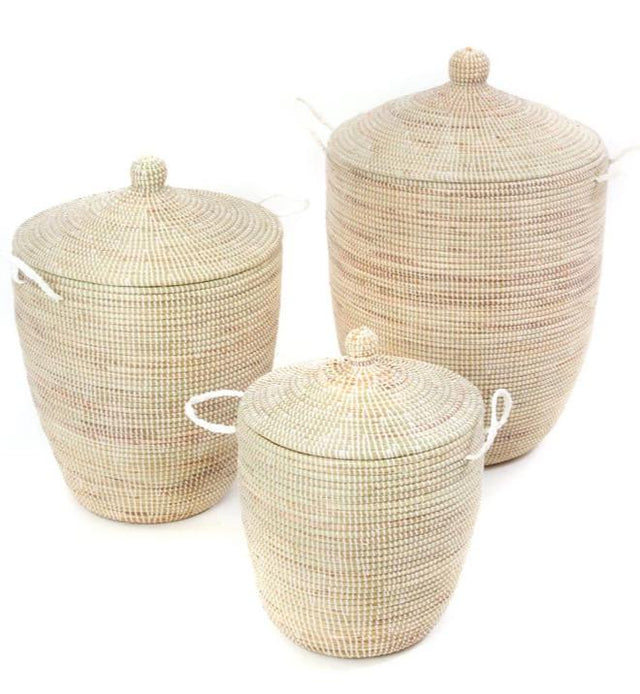 WHITE CATHEDRAL BASKET SET  (SENEGAL)