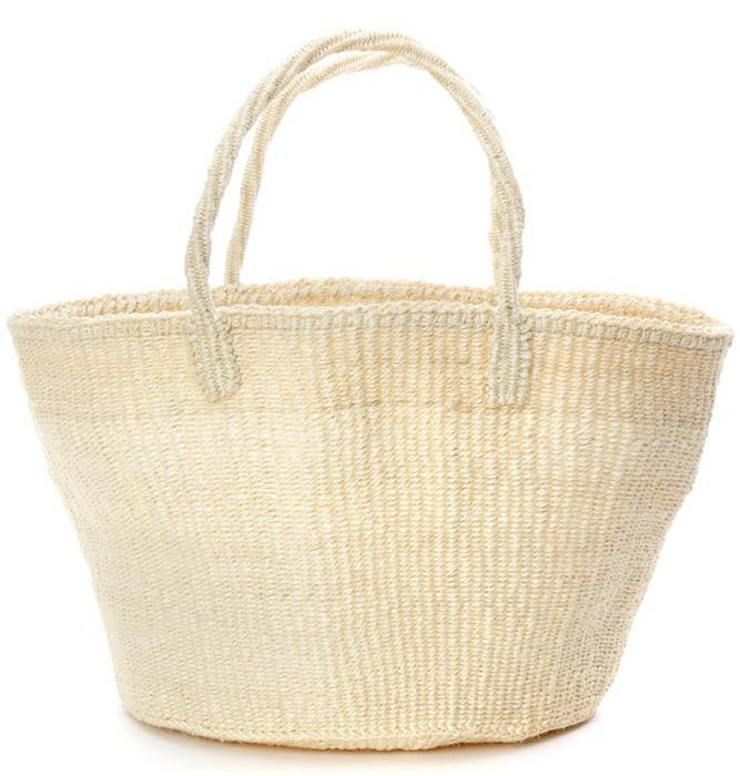 NATURAL IVORY CLASSIC SISAL TOTE <br>(FROM KENYA)