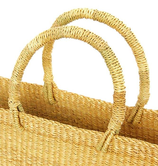 NATURAL SLIM TOTE  <br>(FROM GHANA)