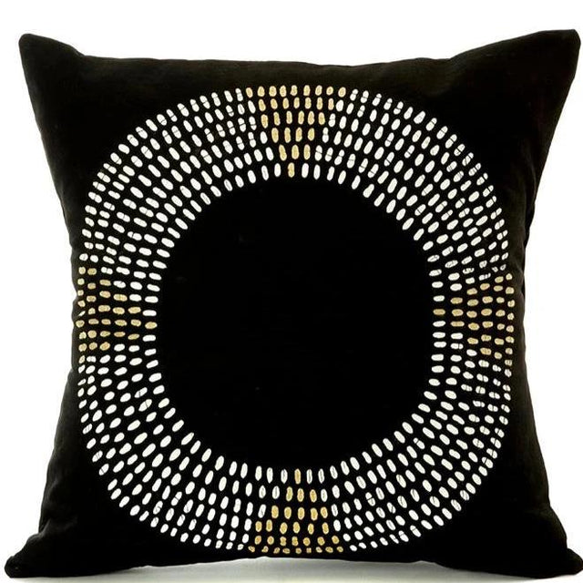 BLACK MAASAI NECKLACE PILLOW <br>(FROM ZAMBIA)