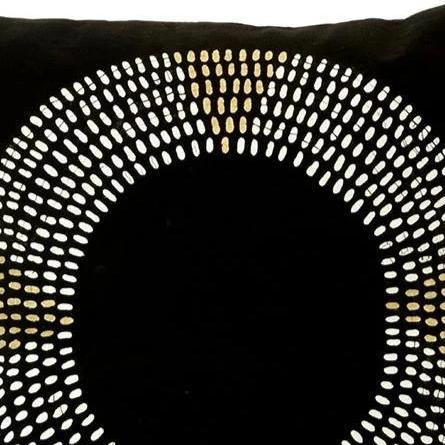 BLACK MAASAI NECKLACE PILLOW (ZAMBIA)