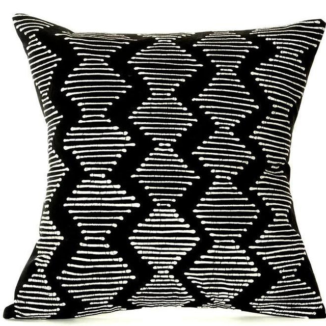 BLACK DIAMONDS PILLOW FROM ZAMBIA