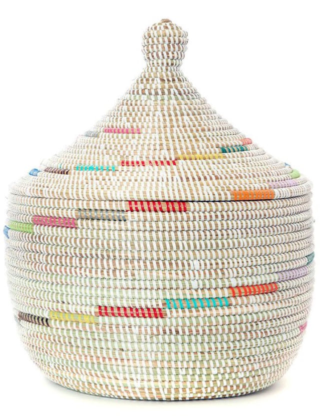 COLOR SPIRAL CATHEDRAL BASKET (SENEGAL)