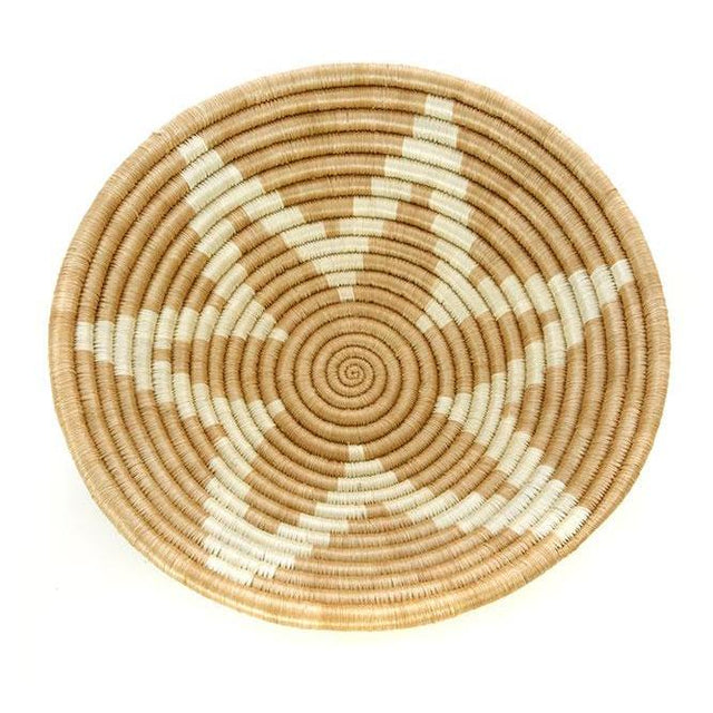 "GOLD SONGA STAR 10"" BASKET <br>(FROM RWANDA)"