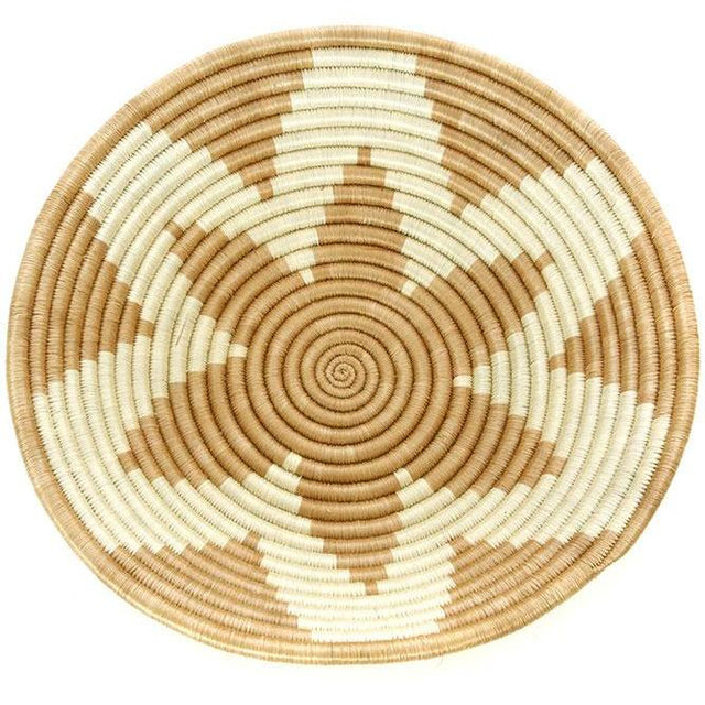 "GOLD SONGA STAR 12"" BASKET (RWANDA) 