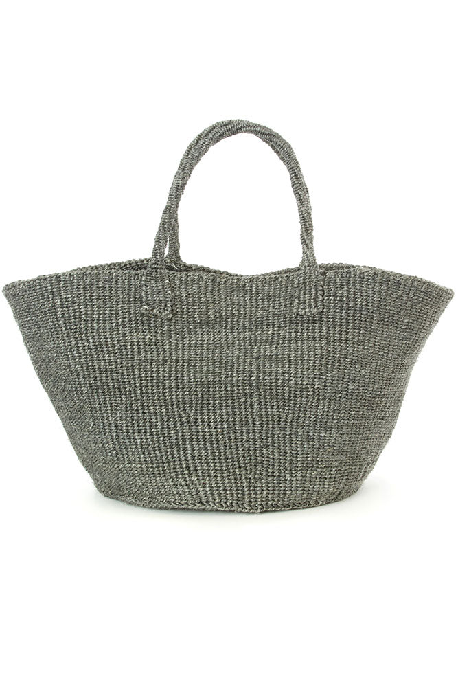 GRAY CLASSIC SISAL TOTE <br>(FROM KENYA)