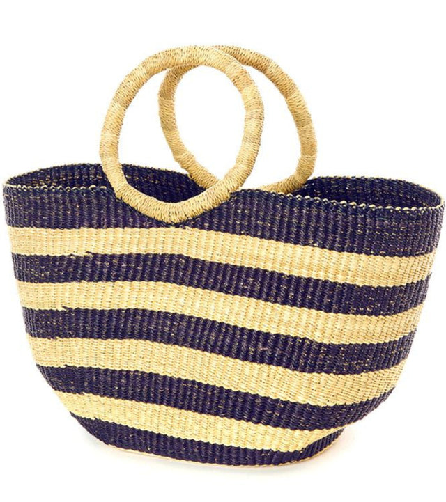 BLUE STRIPED GHANIAN SHOPPER (GHANA)