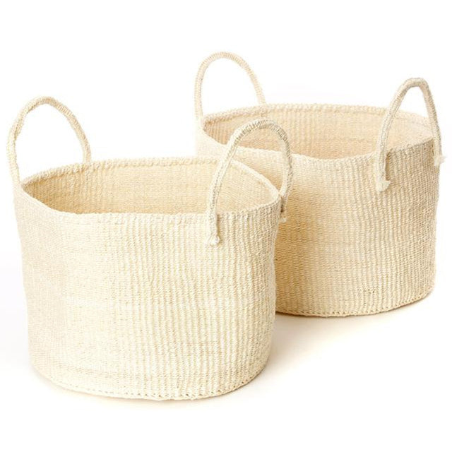NATURAL SISAL KAMBA FLOOR BASKETS (KENYA)