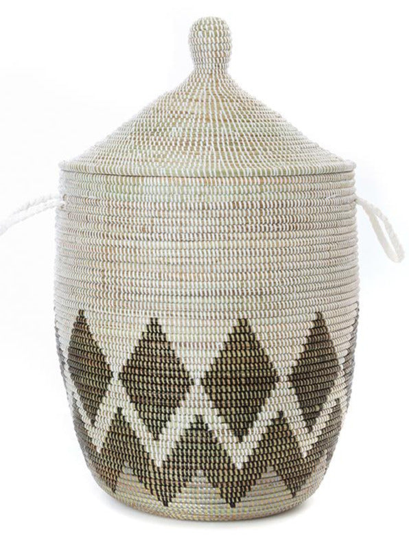 EARTH DIAMOND BORDER BASKET (SENEGAL)