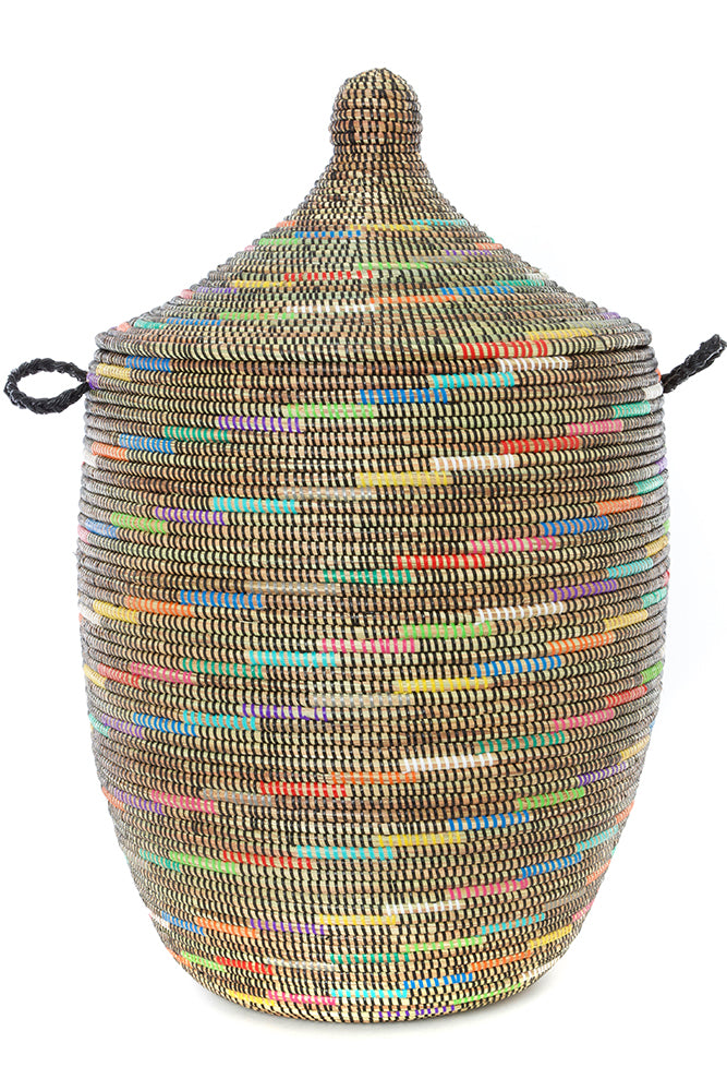 "SABLE RAINBOW SWIRL BASKETS 26"" (SENEGAL)"