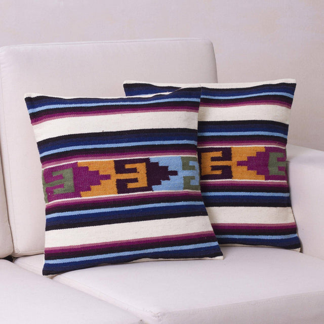 VIOLET SUNSET TEMPLE PILLOW (PERU)