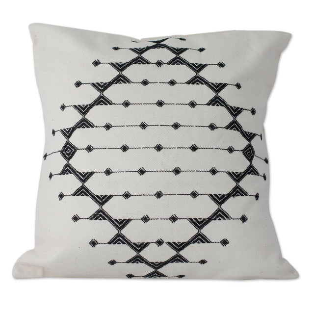 BLACK & WHITE GALAXY THROW PILLOW (INDIA)
