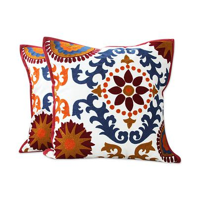 FLORAL JAZZ THROW PILLOW (FROM INDIA)