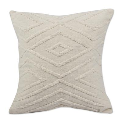 DIAMONDS IN THE SNOW THROW PILLOW (FROM PERU)