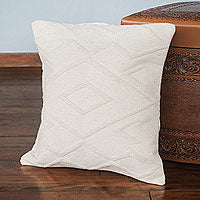 DIAMONDS IN THE IVORY THROW PILLOW (FROM PERU)
