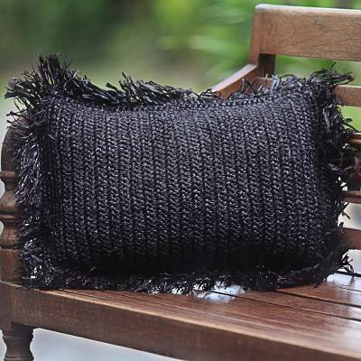 Dark Cloud Pineapple Leaf Pillow (from Indonesia)