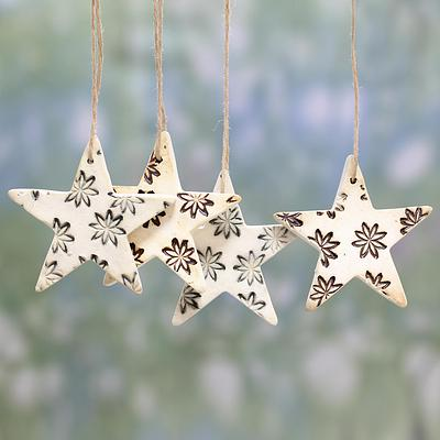 FLORAL STAR ORNAMENT (FROM INDIA)