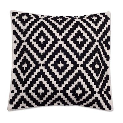 BLACK & EGGSHELL THROW PILLOW (PERU)