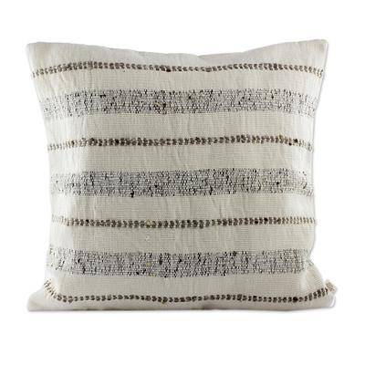 GREY STRIPED COMFORT THROW PILLOW (FROM GUATEMALA)