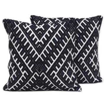 BLACK OBSIDIAN DIAMOND PILLOW (FROM INIDA)