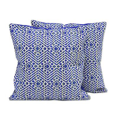 INDIGO OCEAN THROW PILLOW (FROM INDIA)