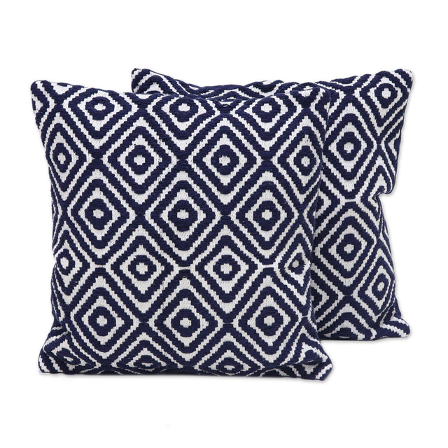 INDIGO DIAMONDS PILLOW (INDIA)