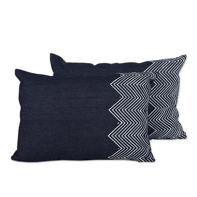 JEAN ZIG THROW PILLOW (INDIA)