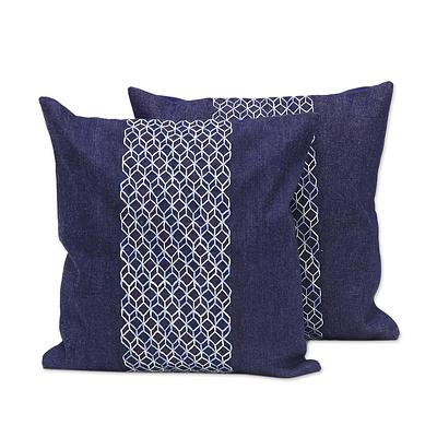 JEAN GEOMETRY THROW PILLOW (FROM INDIA)