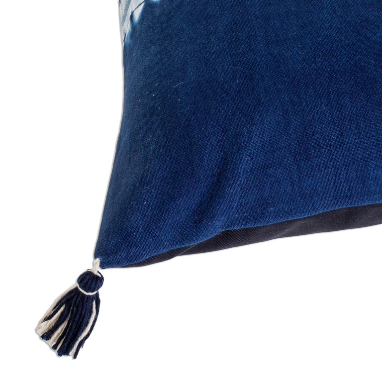 INDIGO DYED COTTON HORIZON PILLOW