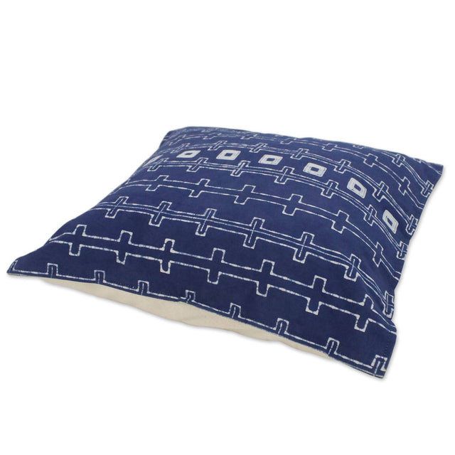 INDIGO HMONG CHAINS COTTON PILLOW (THAILAND)