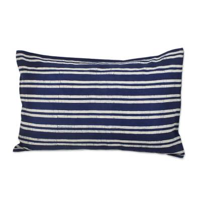 Batik Striped Cotton Pillow (from Thailand)