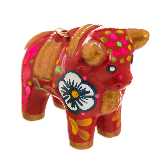 BULL HAND-PAINTED ORNAMENT (PERU)