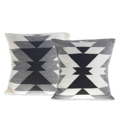 Grey Inca Smoke Alpaca Pillows (Peru)