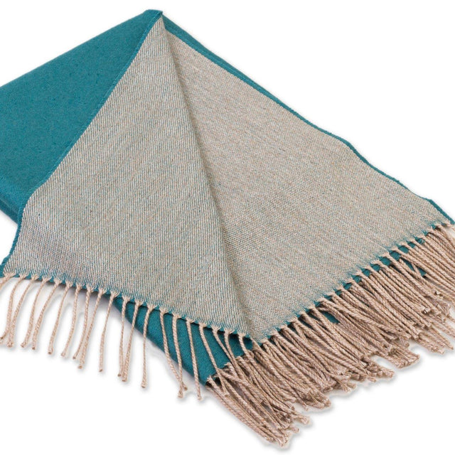 TEAL ALPACA THROW (PERU)