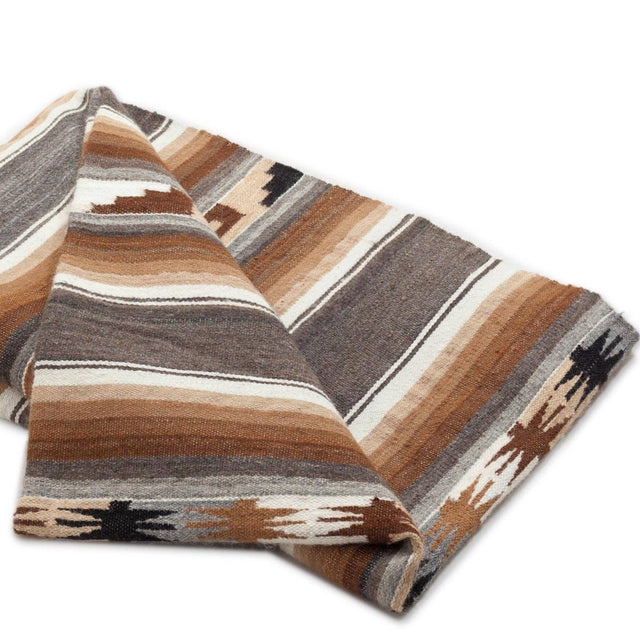EARTH MOUNTAIN STRIPED ALPACA THROW