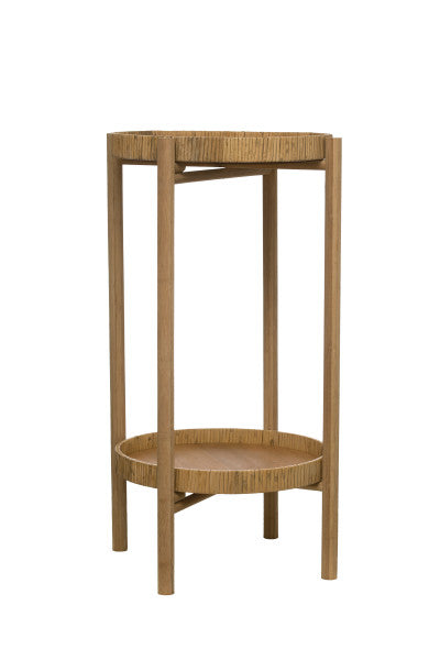 BAMBOO & RATTAN SIDE TABLE