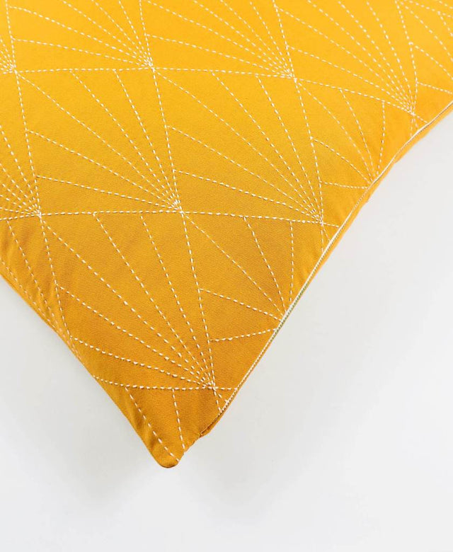 GOLD PRISM STITCH THROW PILLOW