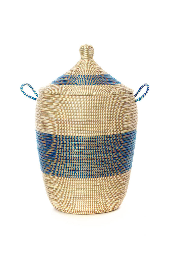INDIGO & WHITE BASKETS (SENEGAL)