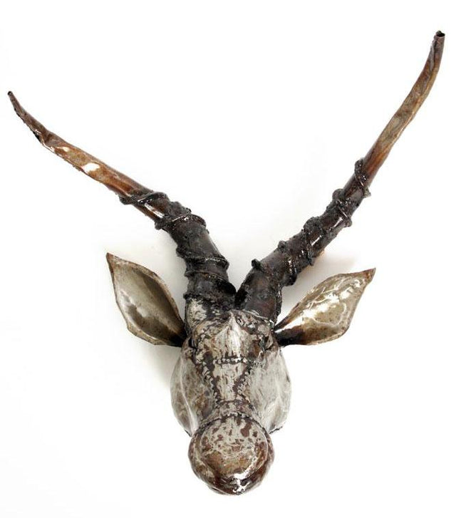 IMPALA METAL WALL SCULPTURE<br>(KENYA)