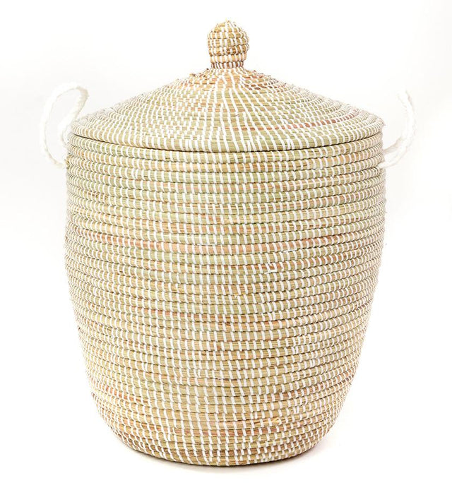 WHITE CATHEDRAL BASKETS  (FROM SENEGAL)