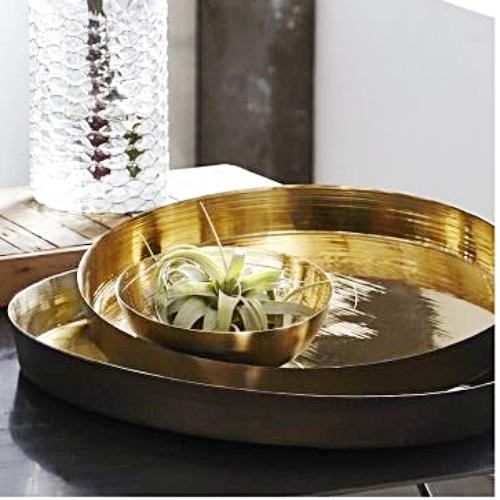BRASS RIPPLED TRAY