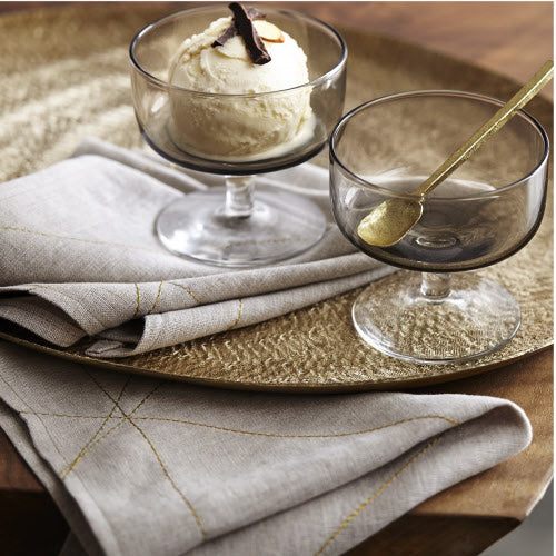 GOLD STITCHED NAPKINS | ENTERTAINING | STAG & MANOR
